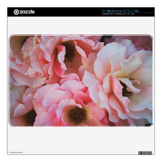 Gentle Pink Rose Blooms - Flower photography Skin For MacBook Air