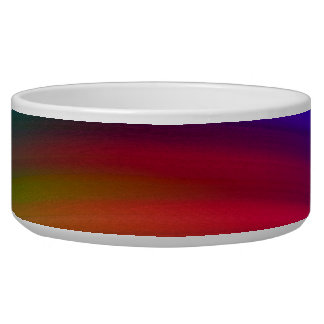Gentle Rainbow Waves Abstract Bowl