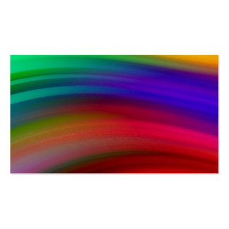 Gentle Rainbow Waves Abstract Business Card