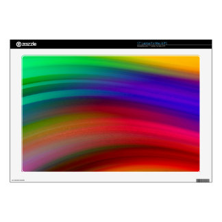 Gentle Rainbow Waves Abstract Decals For Laptops