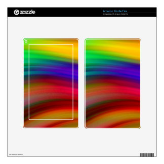 Gentle Rainbow Waves Abstract Skin For Kindle Fire