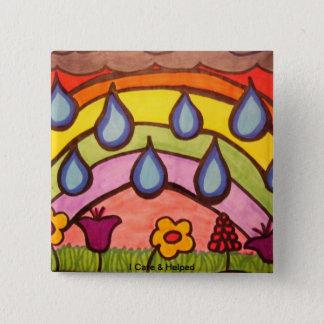 Gentle Raindrops Pinback Button