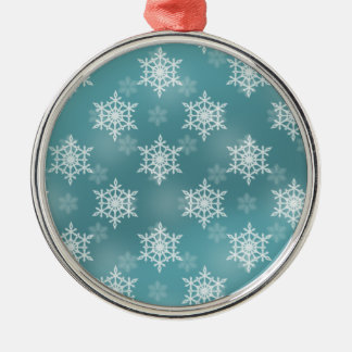 Gentle Snow Storm Metal Ornament