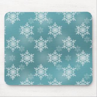 Gentle Snow Storm Mouse Pad