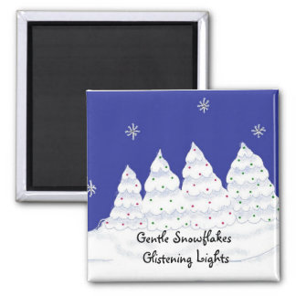 Gentle Snowflakes Glistening Lights Magnet