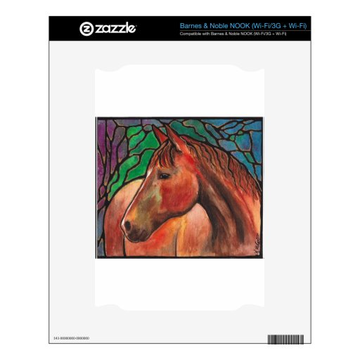 Gentle Spirit Horse Stained Glass Mosaic Art NOOK Decals