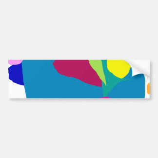 Gentle Stare Blue Surface Tranquility Leaf Bumper Stickers
