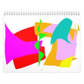 Gentle Stare Blue Surface Tranquility Leaf Calendar