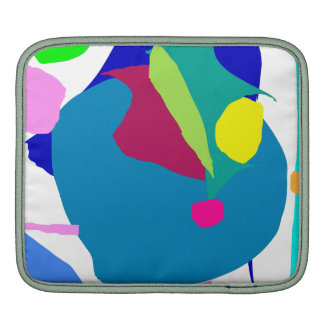 Gentle Stare Blue Surface Tranquility Leaf Sleeve For iPads