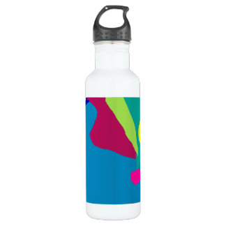 Gentle Stare Blue Surface Tranquility Leaf Water Bottle
