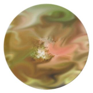 gentle storm, green abstract dinner plate