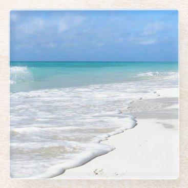 Beach Themed Gentle Surf Glass Coaster