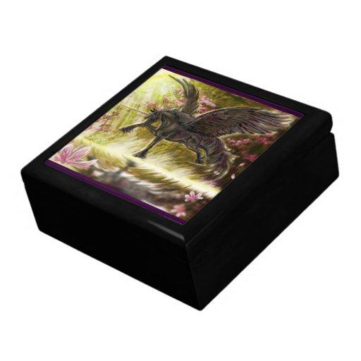 Gentle Touch-winged unicorn~keepsake box