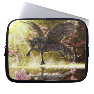 Gentle Touch-winged unicorn~laptop case