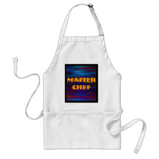 Gentle Waters in Blue and Colorful Reflections Adult Apron