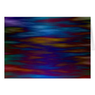 Gentle Waters in Blue and Colorful Reflections Card
