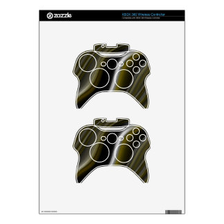 gentle waves brown gold astract xbox 360 controller skins