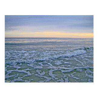Gentle Waves Rolling Along Seashore Postcard