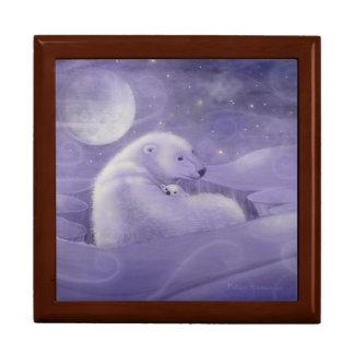 Gentle Winter Polar Bear Gift Box