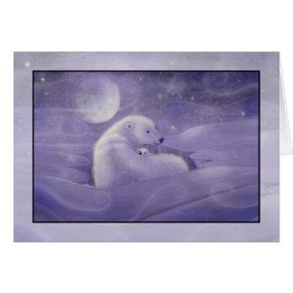 Gentle Winter Polar Bear Holiday Card