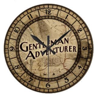 Gentleman Adventurer Large Clock