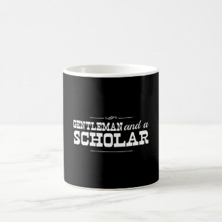 Gentleman and a Scholar Classic White Coffee Mug
