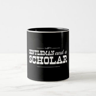 Gentleman and a Scholar Two-Tone Coffee Mug