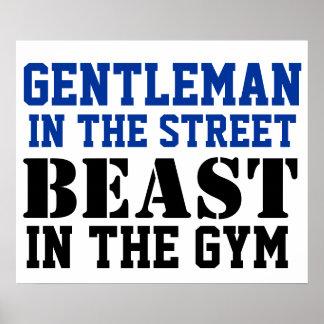 Gentleman and Beast Workout Motivation Poster