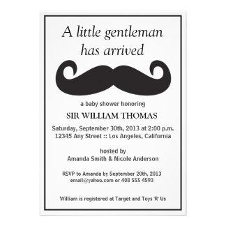 Gentleman Baby Shower Announcement