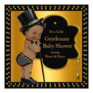 Gentleman Baby Shower Boy Tophat Cane Ethnic Card