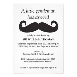 Gentleman Baby Shower Custom Announcements