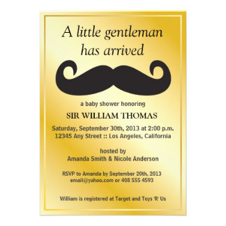 Gentleman Baby Shower Invite