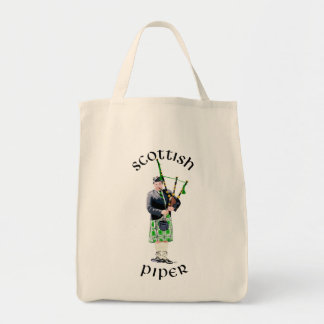 Gentleman Bagpiper in Green Kilt Canvas Bag