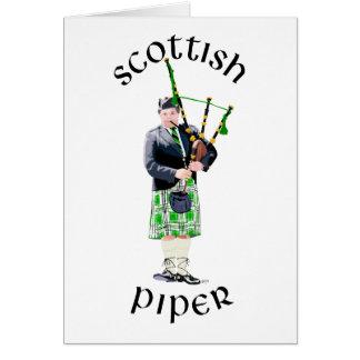 Gentleman Bagpiper in Green Kilt Card