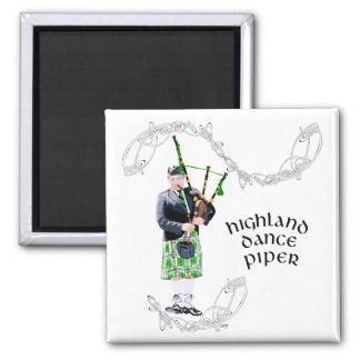 Gentleman Bagpiper in Green Kilt Fridge Magnets