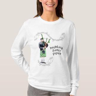 Gentleman Bagpiper in Green Kilt T-Shirt