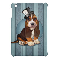 Gentleman Basset Hound Puppy Cover For The iPad Mini