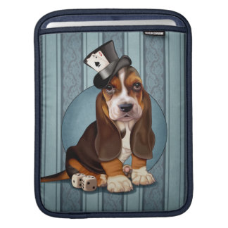 Gentleman Basset Hound Puppy Sleeves For iPads