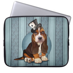 Neoprene Laptop Sleeve 15' with Basset Hound Phone Cases design
