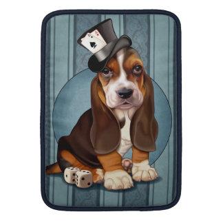 Gentleman Basset Hound Puppy MacBook Sleeves