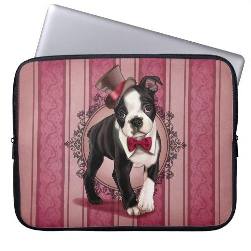 Gentleman Boston Terrier Laptop Sleeves