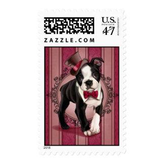 Gentleman Boston Terrier Postage