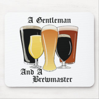 Gentleman brewmaster mouse pad
