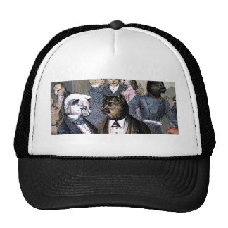 Gentleman Cats at Miss Pussy Cat's Tea Party. Trucker Hat