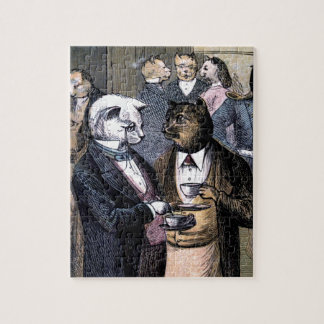 Gentleman Cats at Miss Pussy Cat's Tea Party Jigsaw Puzzle