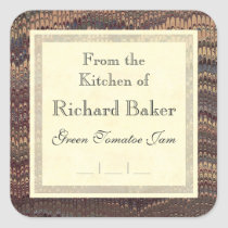 Gentleman Chef's Elegant Marble Canning Labels