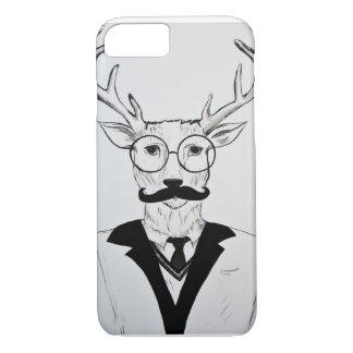 Gentleman Deer Sketch iPhone Case