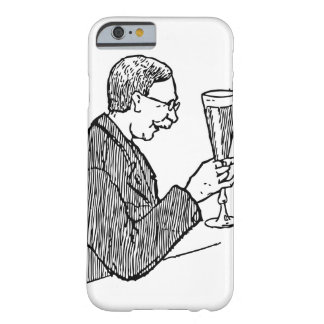 Gentleman Drinking Beer Vintage Illustration Barely There iPhone 6 Case