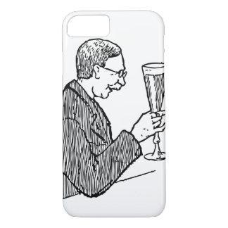 Gentleman Drinking Beer Vintage Illustration iPhone 7 Case