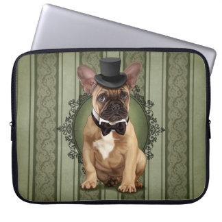 Gentleman French Bulldog Laptop Sleeve